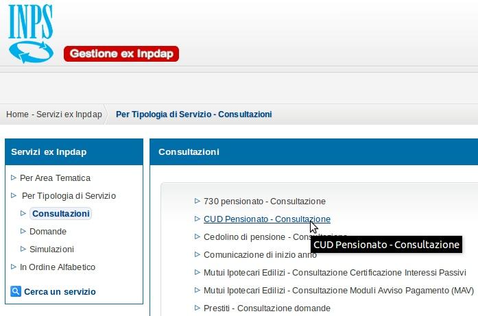 cedolino pensione inps ex inpdap